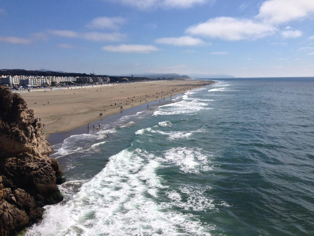 A view of Ocean Beach, taken from the Cliff House on the northern end. Photo by Martin Totland.