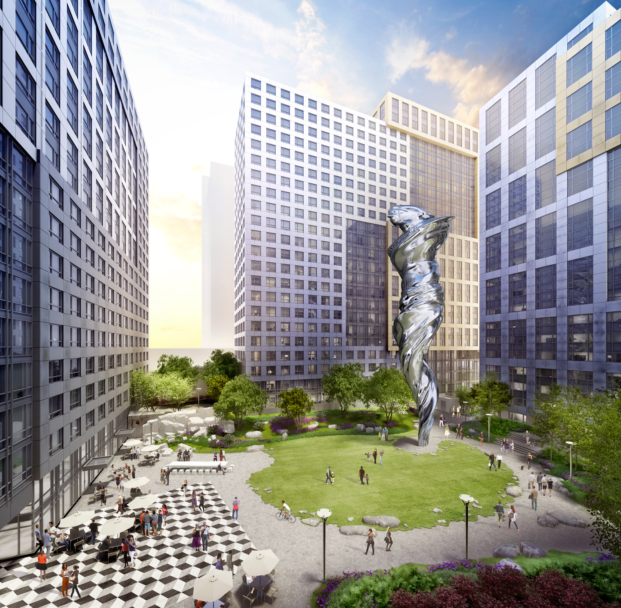 Trinity Place Apartments: Outdoor Sculptures Spread Love Around The City