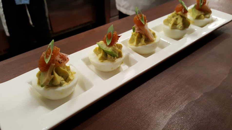 deviled eggs from Ferm Lab