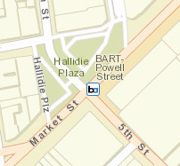 map of powell bart station