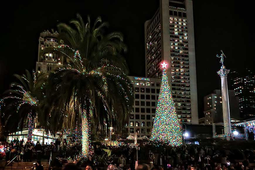 tree lighting at macys