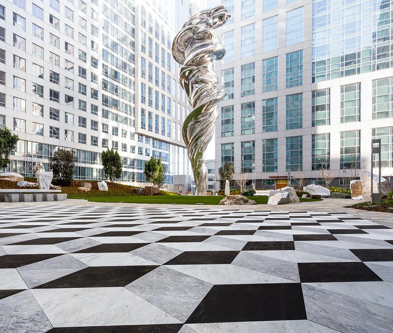 Trinity Place Outside with Venus de Milo Sculpture